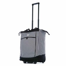Fashion Houndstooth Rolling Shopping Tote