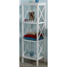 "X-Frame 18"" x 54"" Bathroom Linen Tower"