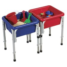 Active Play 2 Station Square Sand and Water Table with Lids