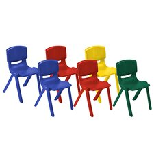 Plastic Classroom Chairs (Set of 6)