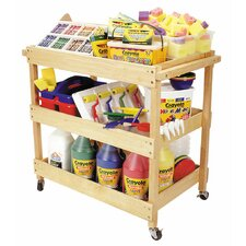 Hardwood Teaching Cart with 4 Casters