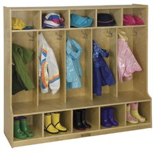 3 Tier 5 Wide Coat Locker
