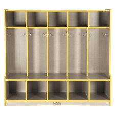 5-Section Coat Locker with Bench (Laminate)