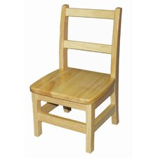 "Ladderback 12"" Wood Classroom Chair (Set of 2)"
