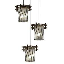 Wire Glass™ 3 Light Pendant