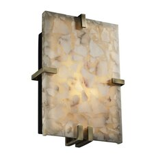 Alabaster Rocks Clips 2 Light Wall Sconce