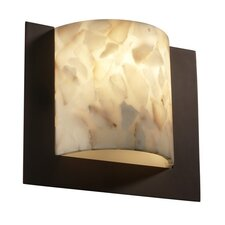 Alabaster Rocks Framed 1 Light ADA Wall Sconce