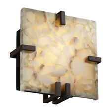 Alabaster Rocks Clips 1 Light Wall Sconce
