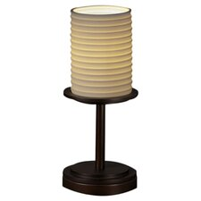 "Limoges Dakota Portable 12"" H Table Lamp with Drum Shade"