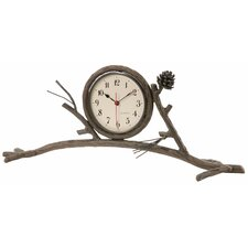 Pine Mantle Clock