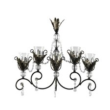 Golden Leaves Metal and Glass Sconce