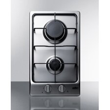 "11.5"" Gas Cooktop with 2 Burners"