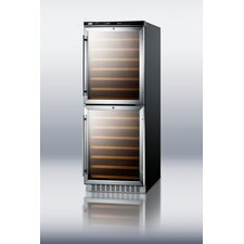 108 Bottle Dual Zone Built-In Wine Refrigerator