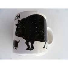 "Vintage French Cochon ""Pig"" 11 oz. Mug (Set of 2)"