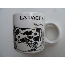 "Vintage French La Vache ""Cow"" 11 oz. Mug (Set of 2)"