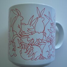 Animates 11 oz. Daytime Rabbits Mug (Set of 2)