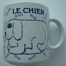 Vintage French 11 oz. Chien (Dog) Mug