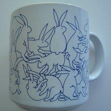 Animates 11 oz. Daytime Rabbits Mug (Set of 2)