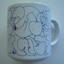 Animates 11 oz. Daytime Elephants Mug (Set of 2)