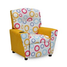 Mixy Spa Fiesta Yellow Suede Kid's Recliner with Cup Holder