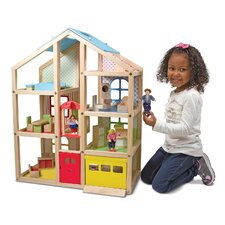 19 Piece Hi-Rise Dollhouse Set