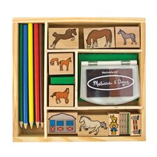 Horses Stamp Set Arts & Crafts Kit
