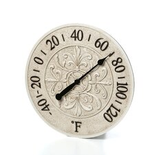 "15"" Le Blanc Fleur Wall Thermometer"