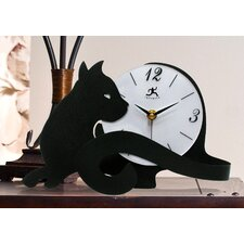 Cat Tail Table Clock