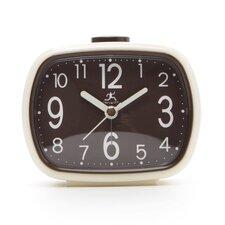 That 70's Retro Alarm Clock in Cream with Brown Face