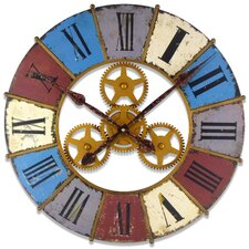 "23.625"" Kaleidoscope Clock with Gears"