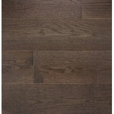 """Wide Plank 7"""" Engineered Oak Hardwood Flooring in Colonial Gray"""