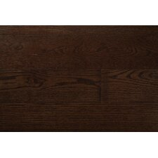 "Wide Plank 7"" Engineered Oak Hardwood Flooring in Midnight"