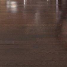 """Color Plank 5"""" Solid White Oak Hardwood Flooring in Metro Brown"""