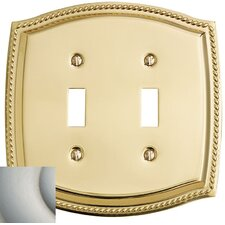 Rope Design Double Toggle Switch Plate