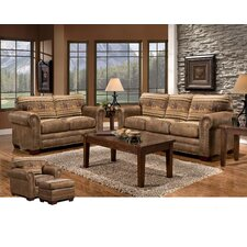 Wild Horses 4 Piece Living Room Set with Sleeper Sofa