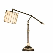 "Revolution Swing Arm 37.5"" H Table Lamp with Drum Shade"
