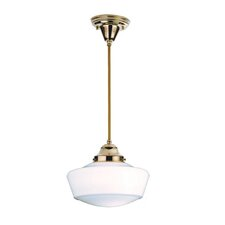 Revival with Traditional Globe  1 Light Schoolhouse Pendant