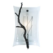 1 Light Metro Fusion Twigs Glass Wall Sconce