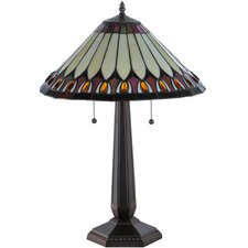 "Tuscaloosa 24.5"" H Table Lamp with Cone Shade"