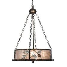 Balsam Pine 4 Light Inverted Pendant