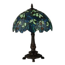 "Nightfall Wisteria 17.5"" H Table Lamp with Bowl Shade"