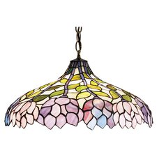 Tiffany Wisteria 3 Light Bowl Pendant
