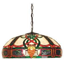 Art Glass 3 Light Bowl Pendant