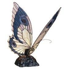 "Butterfly Tiffany 15"" H Table Lamp with Novelty Shade"