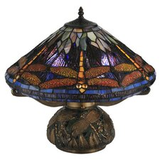 Tiffany Dragonfly Cone Table Lamp with Empire Shade