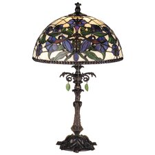 "Victorian Nouveau Lily 23"" H Table Lamp with Bowl Shade"