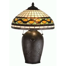 "Tiffany Acorn 23"" H Table Lamp with Bowl Shade"