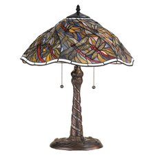 "Spiral Dragonfly 23.5"" H Table Lamp with Bowl Shade"