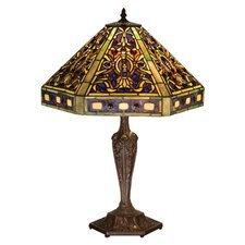 "Tiffany Elizabethan 23.5"" H Table Lamp with Empire Shade"