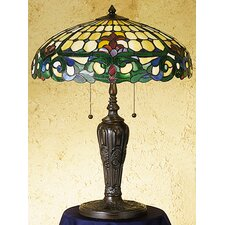 "Duffner and Kimberly Colonial 24"" H Table Lamp with Bowl Shade"